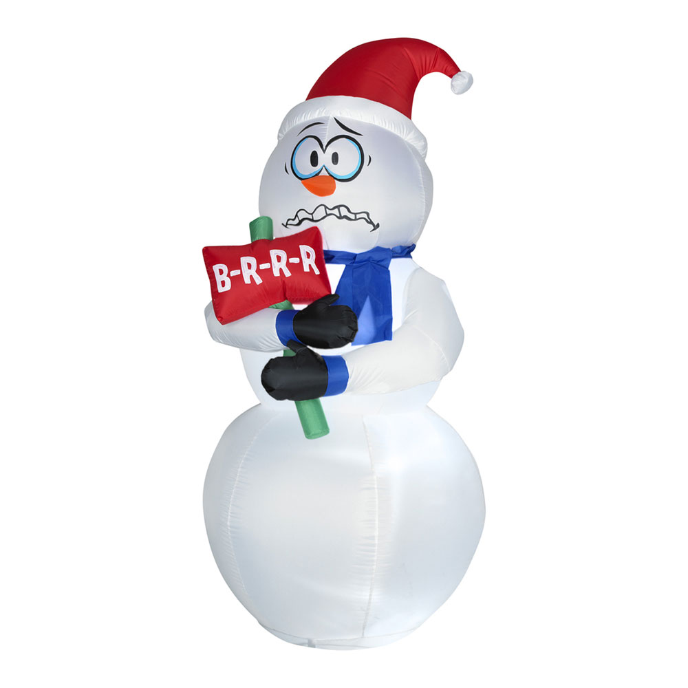 Animated Inflatable Shivering Snowman.