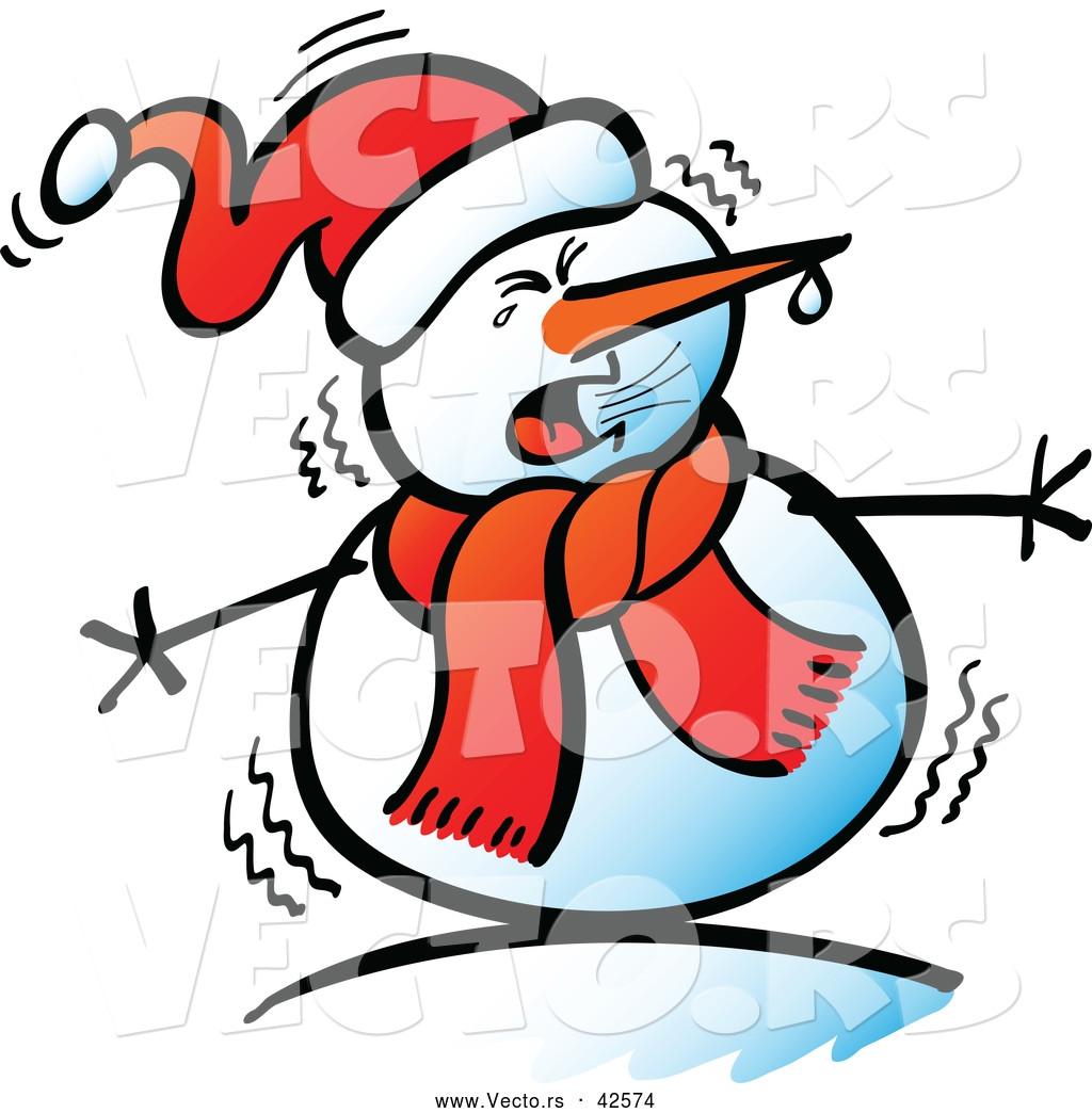 Cool Snowman Clipart.