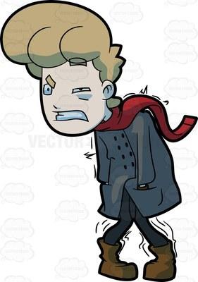 shivering Cartoon Clipart.