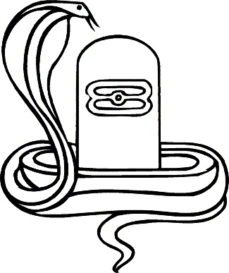 Shivling Clip Art Sketch Coloring Page.