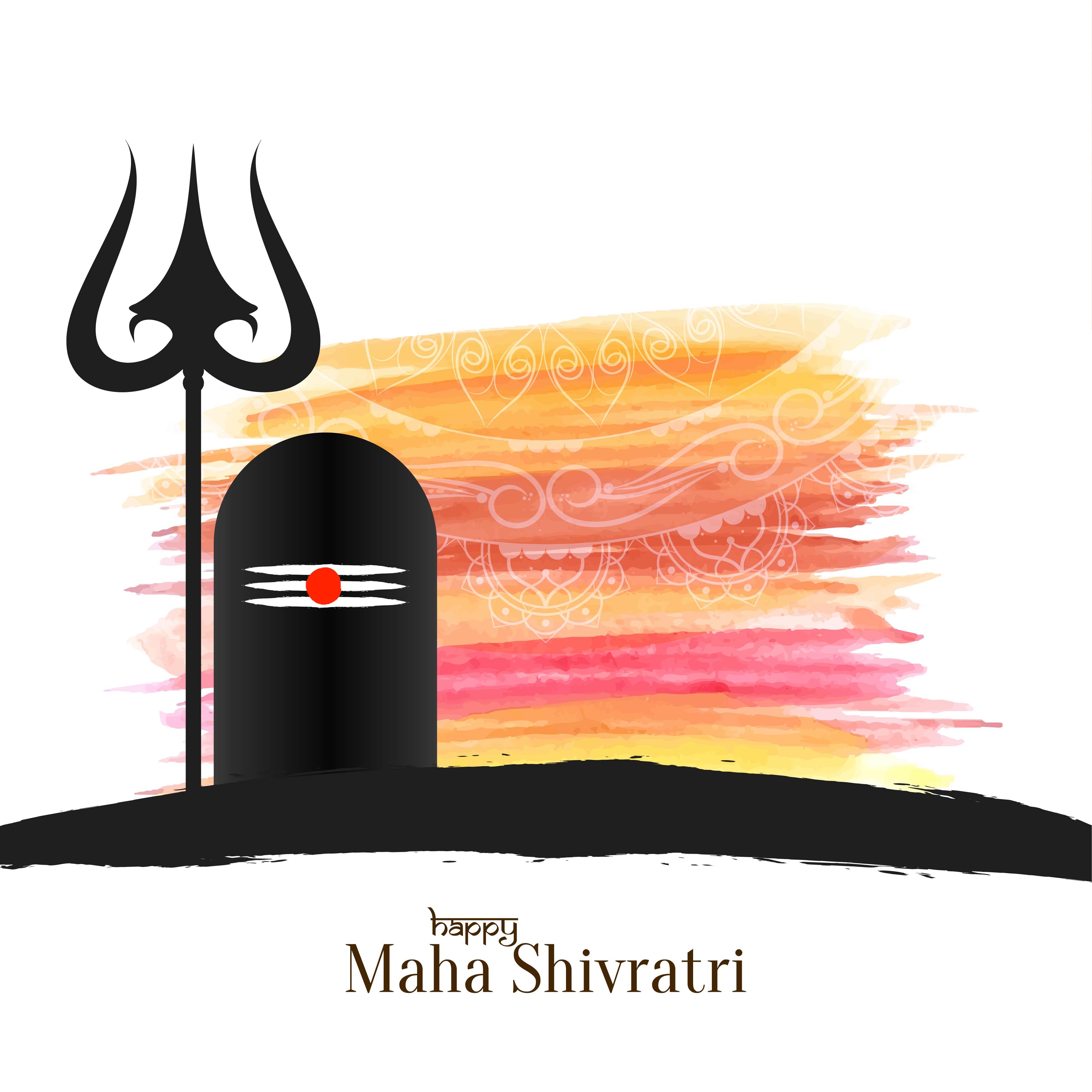 Maha Shivratri Free Vector Art.