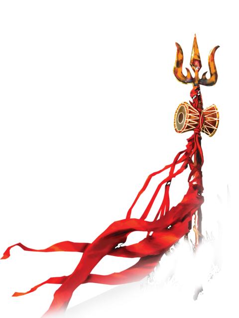 Trishul PNG with flag maha shivratri shiv mahakal.