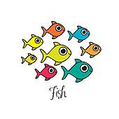 Royalty Free Shoal Clip Art.