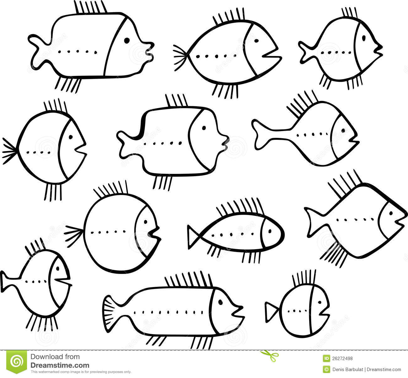 Shoal Of Fishes Royalty Free Stock Photos.
