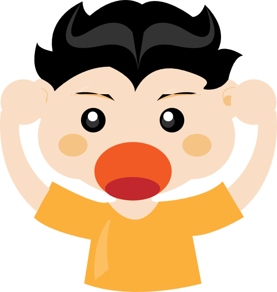 Shouting Clipart.