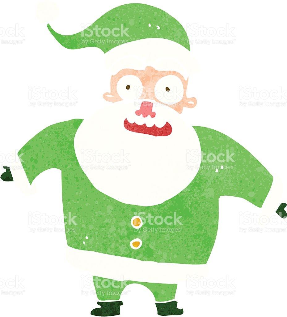 Cartoon Shocked Santa Claus stock vector art 485943267.