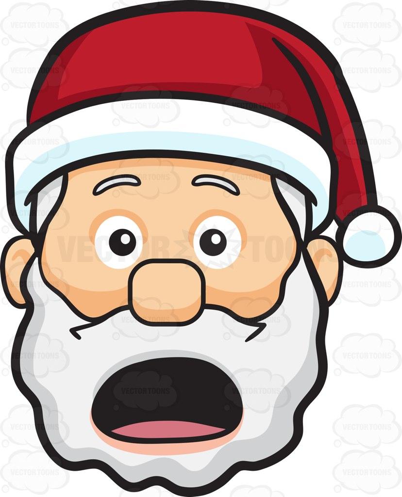 Shocked Santa Clipart.