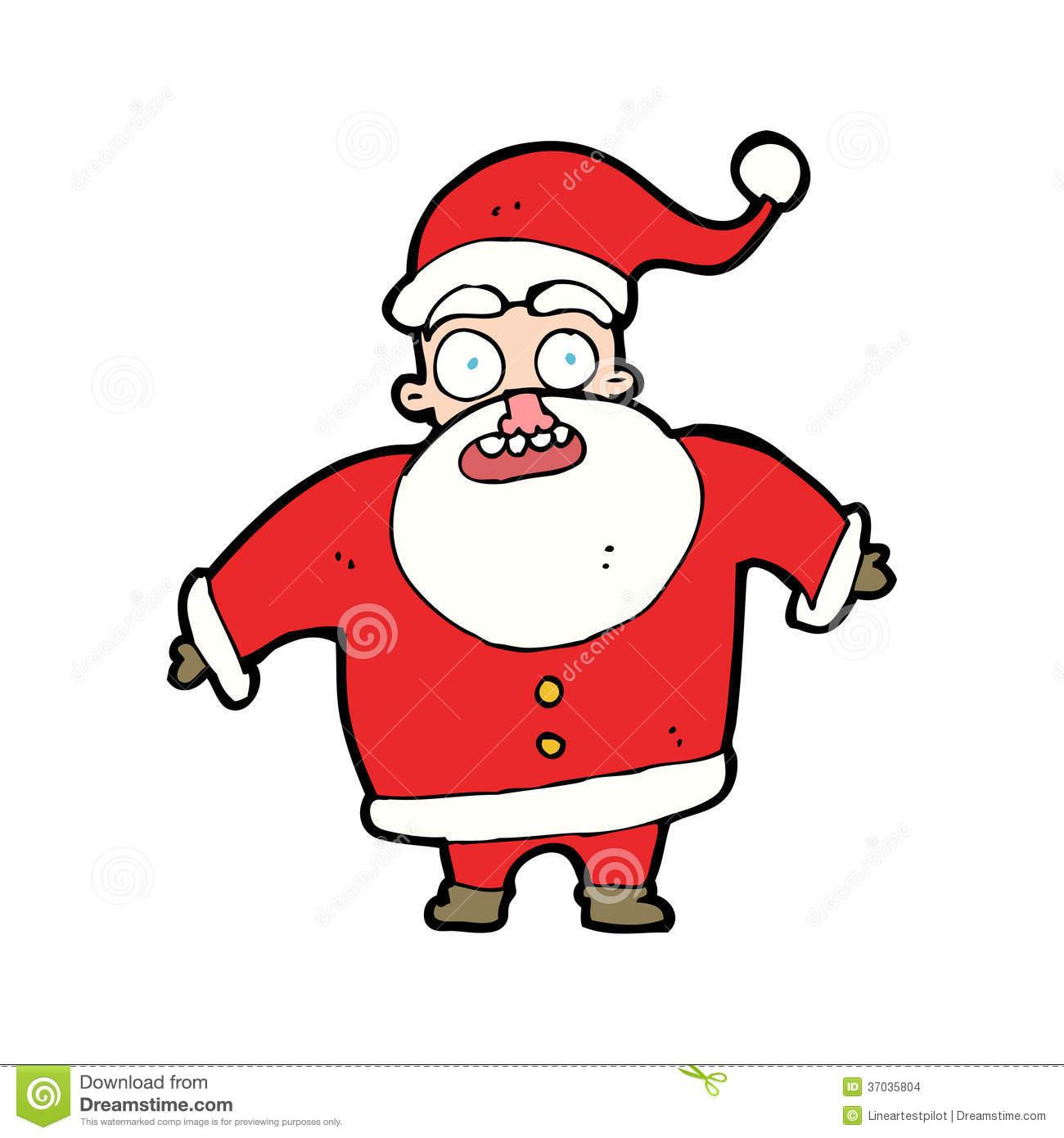 Showing post & media for Surprised santa cartoon.