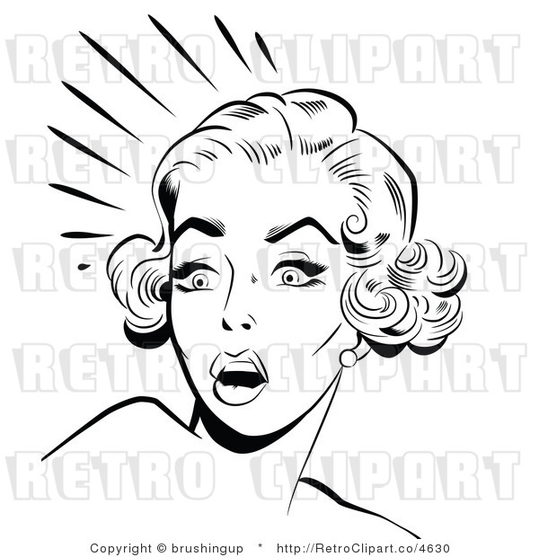 Surprised Woman Clipart.