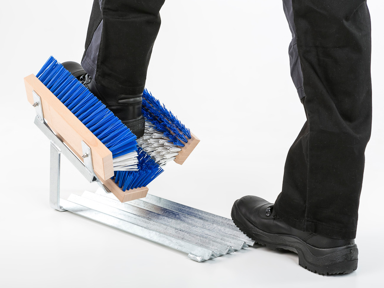 Cleaning devices for shoes and boots.