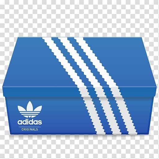 Adidas shoe box, blue box brand material, Adidas Shoebox.