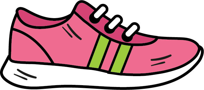 Athletic shoe icon, fitness clipart, shoe clipart.