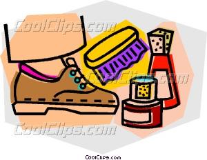 shoe shine Vector Clip art.