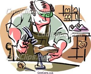 Shoemaker, shoe repairs Clip Art.
