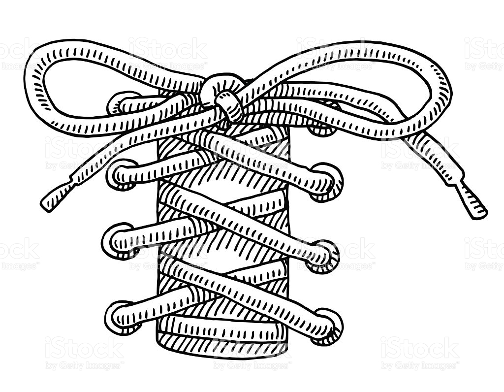 Shoelace clipart transparent background.