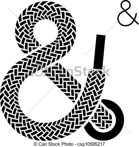 Vector Clip Art of vector shoe lace ampersand symbol csp10595217.