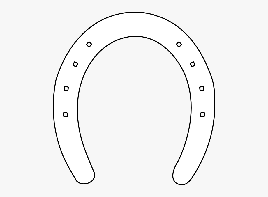 Horse Shoe Outline Clip Art.