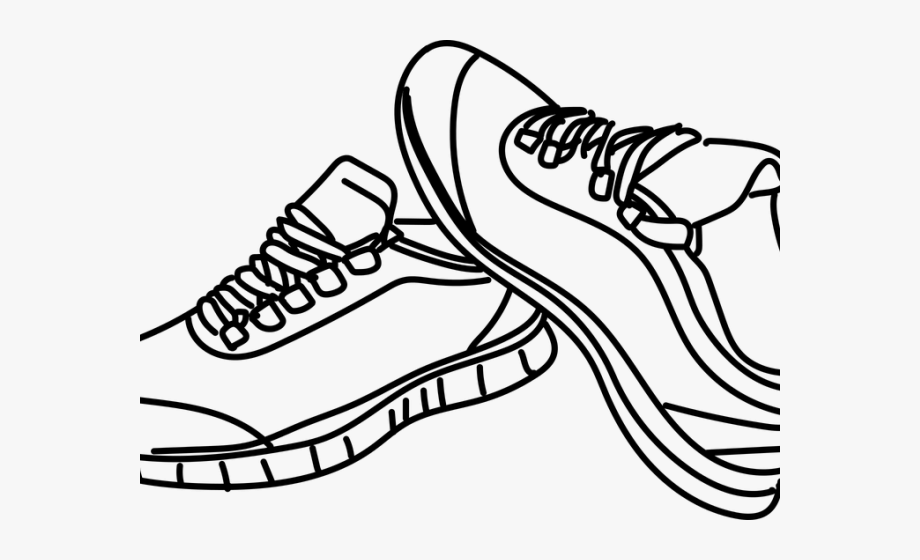 Sneakers Clipart Outline.