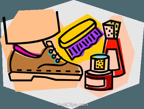 shoe shine Royalty Free Vector Clip Art illustration.