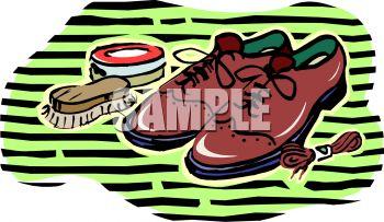 Men's Wingtips and Shoe Polish.