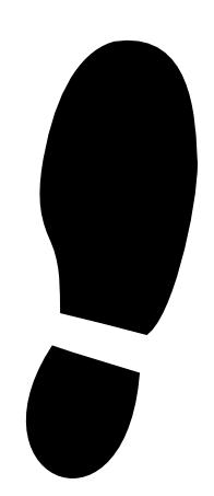 Shoe print clip art.