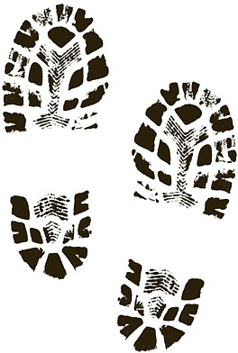 Boots shoes shoe print clip art Free vector in Encapsulated.