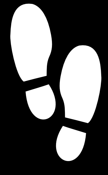 Shoe Print Outline Clipart.