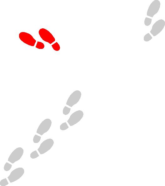 Shoe Prints Red Clip Art at Clker.com.