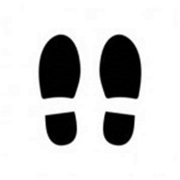 Shoe Prints Walking.