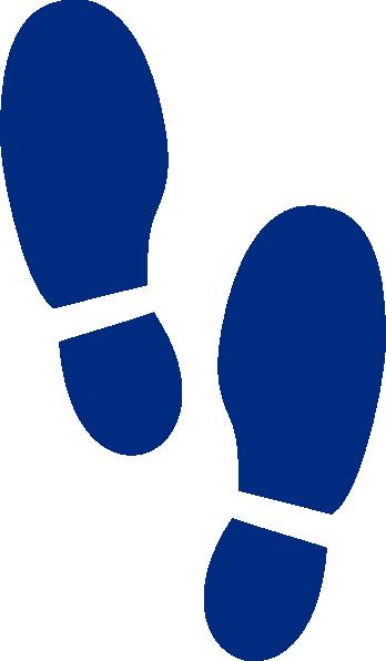Shoe Print Blue2 Clip Art at Clker.com.