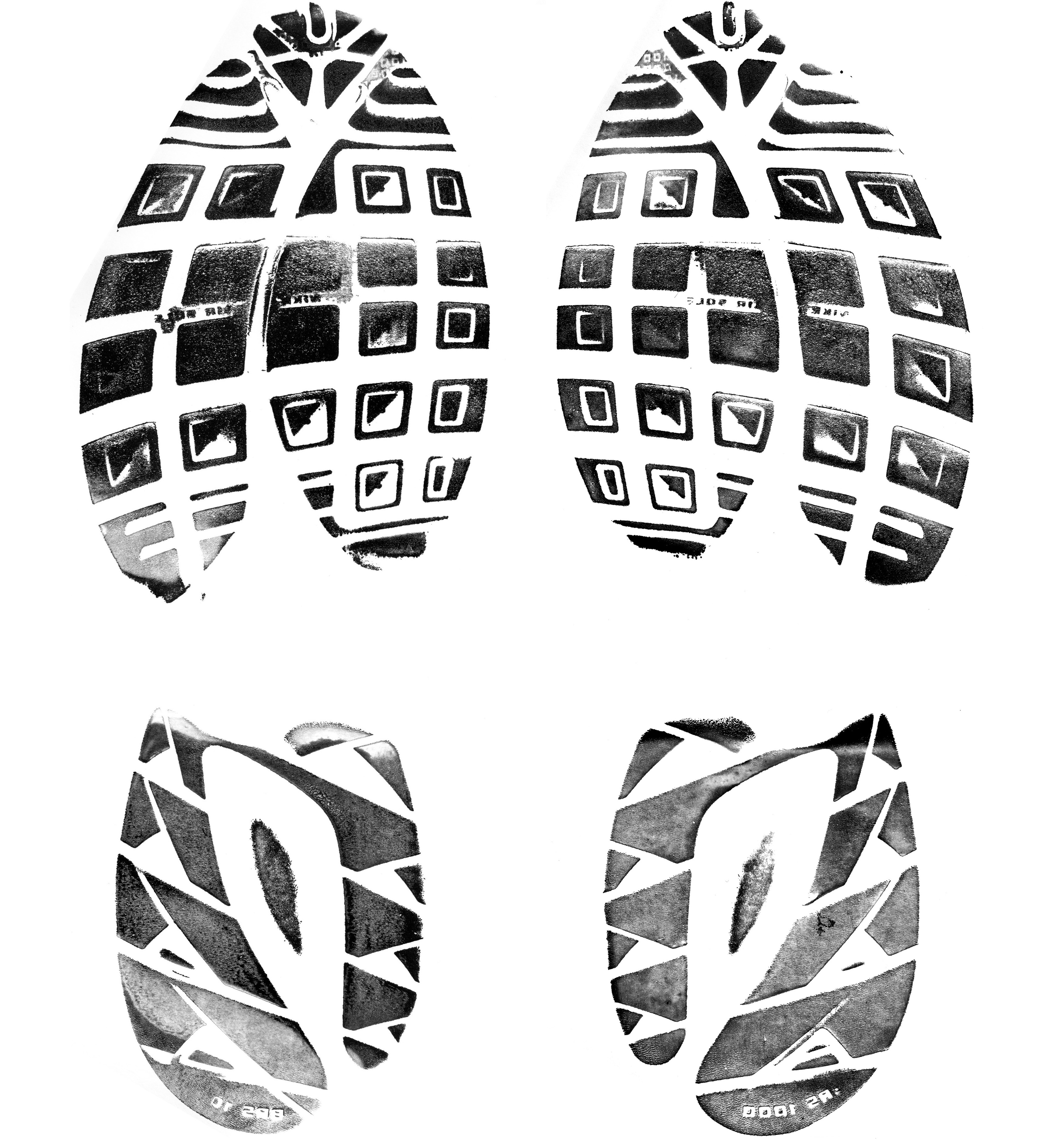 Running Shoe Print Clip Art.