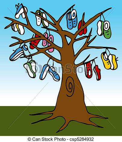 Vector Illustration of Shoe Tree.