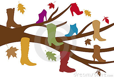 Shoe Tree Stock Photography.