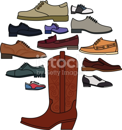 Mens Shoe Tree stock vector art 165687062.