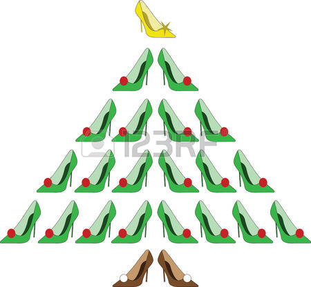 The christmas shoe tree clipart.