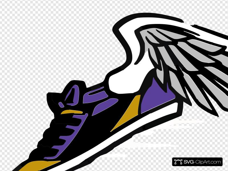 Running Shoe With Wings Clip art, Icon and SVG.