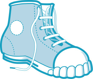 Untied shoelaces clipart.