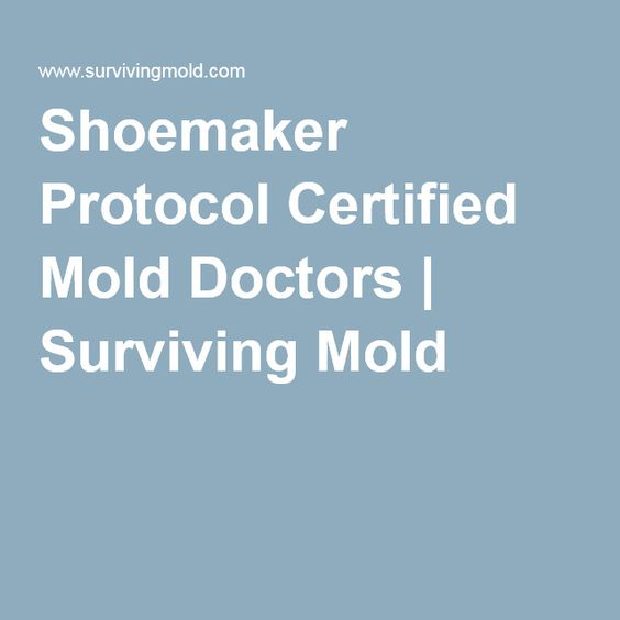 Shoemaker Protocol Certified Mold Doctors.