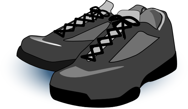 Clip Art Tennis Shoes Clipart.