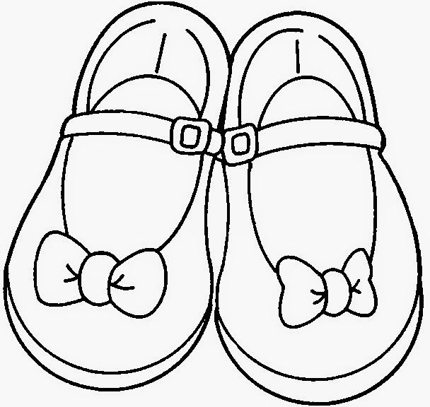 Shoe Clipart Black And White.