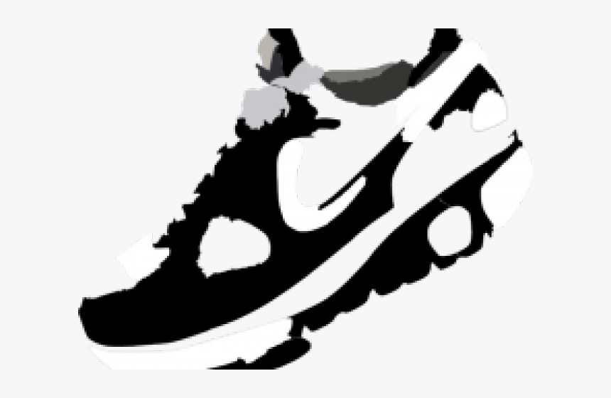 Running Shoes Clipart Shoe Print.