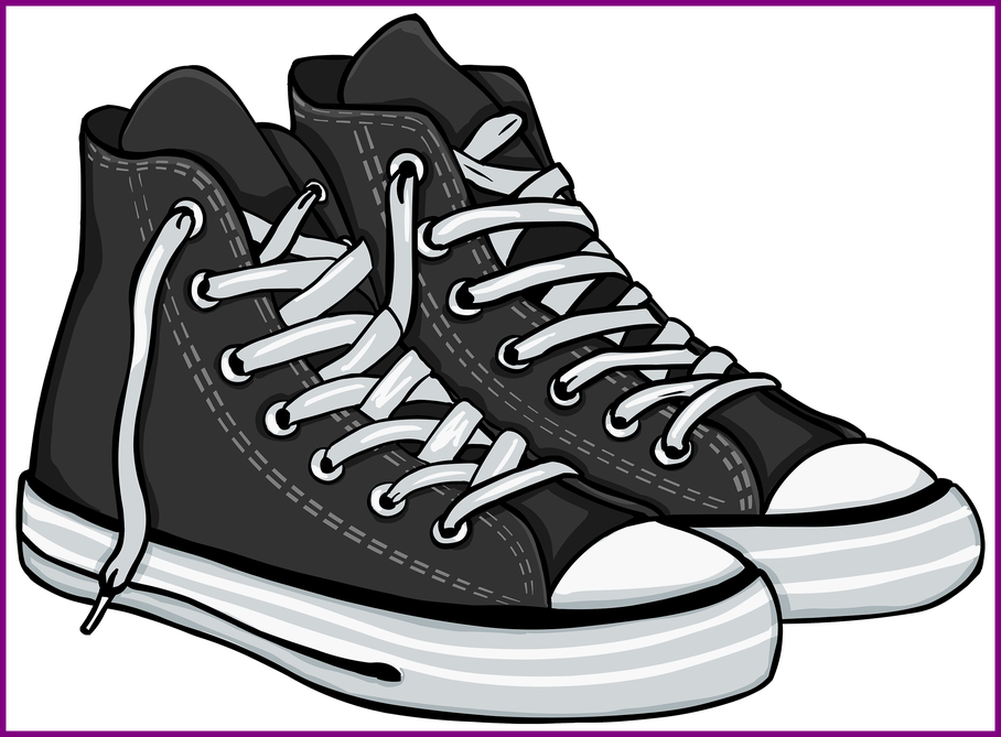 Clip Art Free Download Tennis Shoes Clipart.