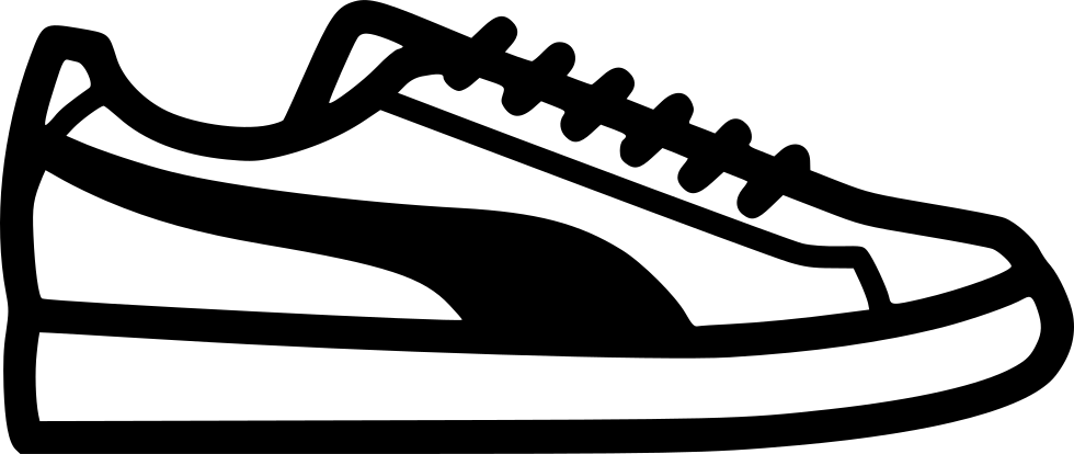 Clipart Black And White Download Sneakers Clipart Svg.