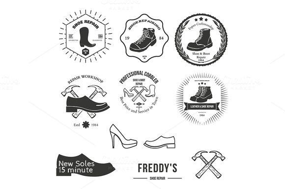 Set of logotype for shoemaker.