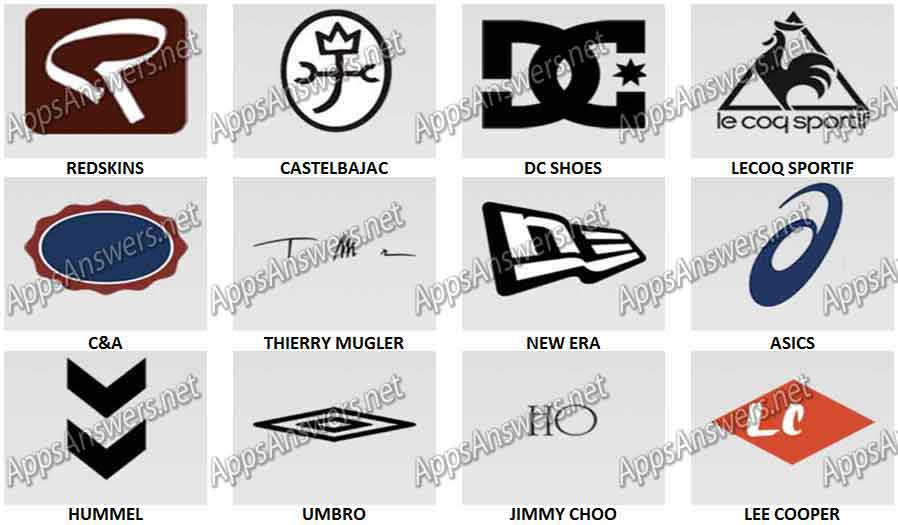 Fashion Logos Quiz Level 6 Answers.