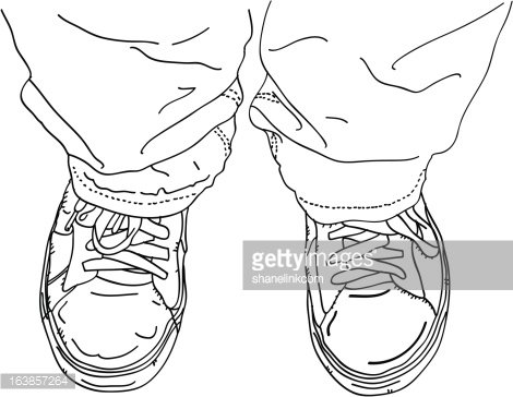 Shoes On Feet Clipart Image.