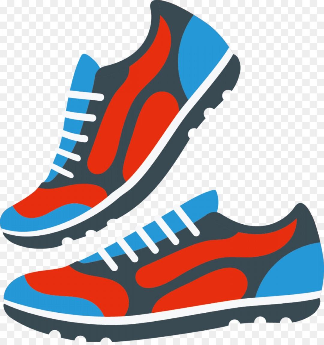 Sneaker Shoe Silhouette Vector.