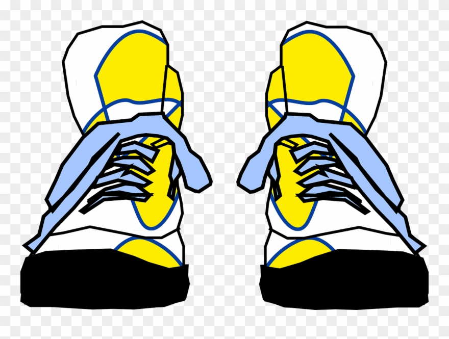 Gym Shoes Clipart Tie Shoe.