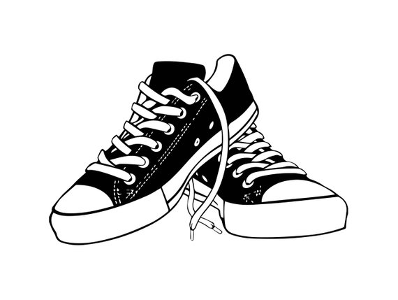Sneaker Shoes Casual Training Isolated Fashion Sport Style.