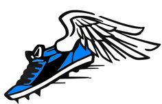 Track shoes with wings clipart 1 » Clipart Station.